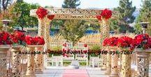 Mandap Indian Maharani Ceremony / Amazing Ceremonies, breathtaking flowers and decor. Available now  www.iDesignEvents.com