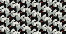 Pattern: Scottie Dogs / Inspiration behind our Winter 2016 pattern, Scottie Dogs.
