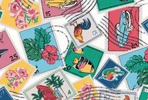 Pattern: Cuban Stamps / Pattern Inspiration behind Spring 2017's Cuban Stamps