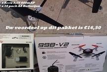 Voordeel pakker / Weekaanbieding van 24-02-2013 T/M 03-03-2013   Voordeel pakket  Uw voordeel op dit pakket is €16,50      Voordeel pakket bestaat uit : •1 x quadcopter 998-V2 •1 x Camera •1 x accu 3,7V 600 mAP •1 x 16 pack AA Batterijen
