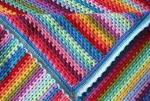 Háčkovačky pokrývkové / Deky, přehozy, ubrusy, a podobně/Crochet blankets etc.