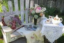 Tea in the garden / What can be more relaxing than having tea in a c♥ttage garden?!