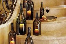 Craft Wine Decor / Need a use for all those empty bottles? Impress your guests with these fun ideas