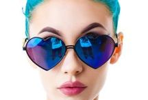 Hip glasses, sunglasses and eyewears! / Cool eyewears, such as heartshaped, cateye and hipster sunglasses