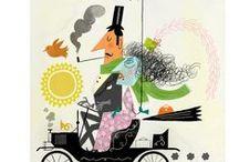 Dan Bob Thompson Illustration / Storybook, conceptual, children's book, editorial, stylized, advertising and corporate communications illustration style see more work at:  http://wvw.salzint.com/dan-bob-thompson.html