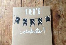 Narozeninová (a jiná) přání /  Inspirace na přání. DIY greeting cards