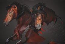 Horses in Art / Levensechte portretten met ziel en karakter. gemaakt met pastelkrijt.