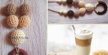 Tündérviola horgolt láncok / Fairyviolet crochet necklaces