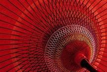 light circular canopy of silk