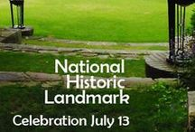 National Historic Landmark celebration 07/13/13 / As part of the celebration on Saturday, 7/13, we will have  lawn games with **period costumes (come in costume!)**, live music from the Midcoast Brass Quintet at 3:00 pm, and speakers and celebration at 4:00. Free, come one and all!