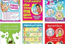 Good Hygiene Posters and Stickers For Kids