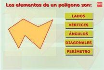 Polígonos. Circunferencias. Círculos. Figuras planas. / Juegos y actividades para trabajar las figuras planas: polígonos, circunferencias...