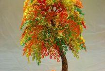 korálkové kytičky/stromky
