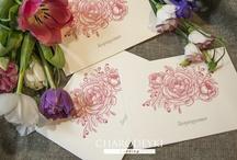 """Invitations """"Wedding flowers"""" / Made by www.charodeyki.com"""