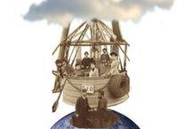 DE COLLAGE EN COLLAGE / FROM COLLAGE TO COLLAGE / La técnica del COLLAGE ha sido utilizada por distintos movimientos artísticos, a lo largo de la Historia del Arte.    Partiendo de las obras mostradas en la exposición VIAJES CON EL MARQUÉS (Sociedad de Collage, comisaria Miluca Sanz), que tomaba como referencia piezas conservadas en el Museo (postales, billetes de tren, kilométricos y fotografías) de algunos de los viajes del marqués.  De Collage en Collage está abierto a este maravilloso mundo y al DIY