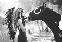 Indian horses / Inspiratie voor indianen paarden fotoshoot