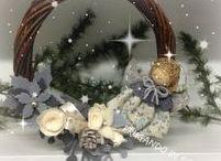 NATALE  SHABBY CHIC / decorazioni natalizie shabby chic fatte a mano