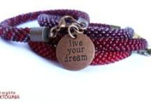 Bransoletki beadcrochet - moje prace / #bead #crochet #bracelets