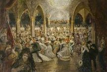 TIEMPO DE OCIO, TIEMPO DE DIVERSIÓN / Puede decirse que el siglo XIX es el del nacimiento del tiempo de ocio, cuando los avances tecnológicos permiten alargar la duración de los días... ¡y de las noches! El teatro, el ballet, la ópera y los conciertos, los primeros cinematógrafos, el circo, los bailes, el paseo, los cafés y restaurantes u otras alternativas se abren como un amplio abanico de diversión, donde elegir pasar el tiempo fuera del hogar, un lujo sólo alcanzable por la burguesía y la aristocracia.