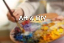 Art & DIY / If you want to decorate your walls but your budget is running low, just make your own! It's easy!
