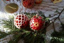 Christmas ornaments and motives / #christmas #xmas #bozenarodzenie #swieta #holidays #santaclaus #ornaments #christmastree #beading #tatting