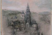 """Pasión por crear. Pintura / Ganadores de los certámenes de pintura rápida """"Pasión por leer, pasión por crear"""" que se celebran todos los años en la Biblioteca de Castilla-La Mancha."""