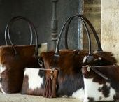 Cowhide Bags / A collection of Handcrafted Cowhide Bags and accessories.