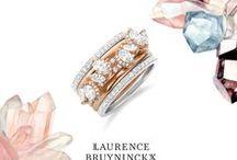 Whimsical Watercolor Wedding / Gemstones • Marble • Pastel • Weddings • Bridal • Engagement • Engagement Ring • Wedding Ring • Diamond Jewelry • Ring Stacks • Dreamscape • Quartz • Amethyst • Watercolor Palette
