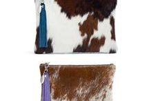 Cowhide Clutches / A collection of unique and one of a kind cowhide clutches in all their glory.