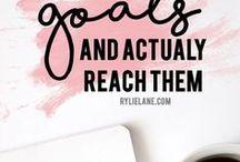 GOALS / For more goal setting tips visit www.brittanyisliving.com