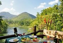 Hintok River Camp @ Hellfire Pass / Discover the staggering concept of glamping: enjoy camping in a glamour and luxurious way. Admire the fascinating jungle all around the camp, savor a delicious barbecue at nightfall, unwind in the natural spring pool on the edge of the River Kwai.