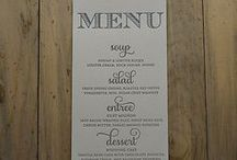 wedding favour tags and menus