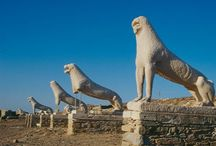 Delos. / Delos archaeological site, Cyclades, Greece!