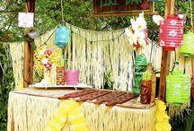 Birthdays in Summer / Summer, sunshine, colourful, rainbow, carnival, beach, fruit, flip flops, candy land, wonderland, outdoors, party  / by B T