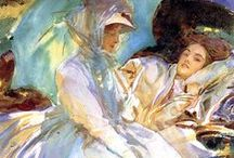 """John Singer Sargent / Sargent really took painting """"en plein air"""" in watercolour to a new level as he tackled subjects as varied as figurative to landscape and boats to gardens."""