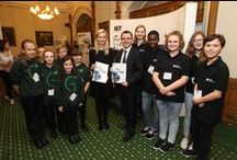 Skills & Demand in Industry 2015 - Parliamentary Event / IET Faraday 2015 Champions from Ulverston Victoria High School and Greenhill Gizmos First Lego League team from Sheffield showcase their work to MPs during the launch of the IET Skills Survey 2015