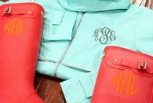 Monogrammed Clothing by The Initialed Life / Monogram Clothing Ideas by The Initialed Life. Preppy outfit inspiration.