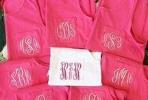 Monogram Tank Tops / Monogram tank tops for spring and summer by The Initialed Life. These make excellent bachelorette party shirts, getting ready shirts, and beach cover ups. www.TheInitialedLife.com
