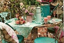Vintage garden Inspiration / I'm slowly re structuring our garden aiming for an old fashioned look.   Fencing, gates, statues, planters and of course lots of lovely colour.