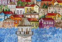''Resim - Cam - Seramik-Mozayik Sanatı-Image - Glass - Ceramic Mosaic Art'' / Image - Glass - Ceramic Mosaic Art.- Bild - Glas - Keramik-Mosaik-Kunst