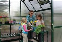 Greenhouse Gardening with Children / Greenhouse and growing ideas to get children involved in gardening.