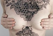 Flora and Fauna tattoos / art, design, tattoo, ink, floral, flowers, line-work, colour, creative
