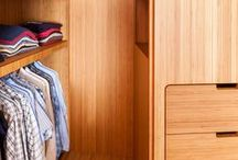 Dressing & walk-in wardrobe / Custom made furniture by Jo-a Dressing, chambre et gardes robes sur mesure par Jo-a