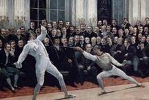 French School - 19th Century / The French school is unified in its systematic and pedagogical approach to the art of fencing. Nonetheless it continued to evolve and refine its national expression of the art until the end of the classical era.