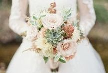 *Succulents in Bouquets* / Wedding inspiration for bouquets with succulents.