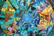 African Animals / Inspired by Dahlov Ipcar's 2014 Full Circle Calendar