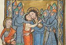 Románské umění, iluminace a plastiky / Romanesque paintings, manuscripts etc.