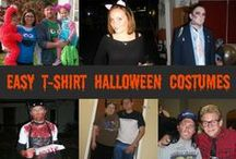 Halloween T-Shirt Costumes / EASY Halloween Costume ideas centered around a simple t-shirt