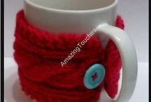 Handmade knit Cozy Cup Sleeves