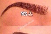 Eyebrows and Eyelashes / Beautiful eyebrow shaping and waxing.  Eyelash tinting and perming.